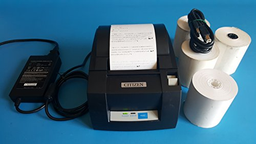 Citizen CT-S310A Thermal Receipt Printer USB with AC Adapter and 4 Rolls