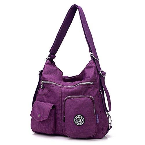 Sport Bag Girls Shoulder Handbag Crossbody Body Cross Bag Purple Messenger Outreo Side Travel Backpack Nylon Bag for Women Casual Satchel vnxwdB