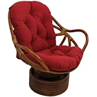 International Caravan 3310-TW-RR-IC Furniture Piece Swivel Rocker with Twill Cushion