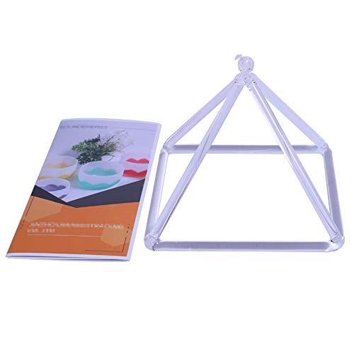ENERGYSOUND Sound Healing Quartz Clear Crystal Singing Pyramid 7''- Crystal Singing Bowl by ENERGYSOUND