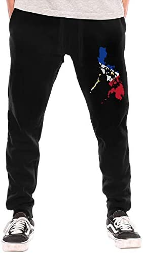 運動ズボン 対する 男性, 超柔らかい フィリピンの国旗地図 綿の ロングスウェットパンツ