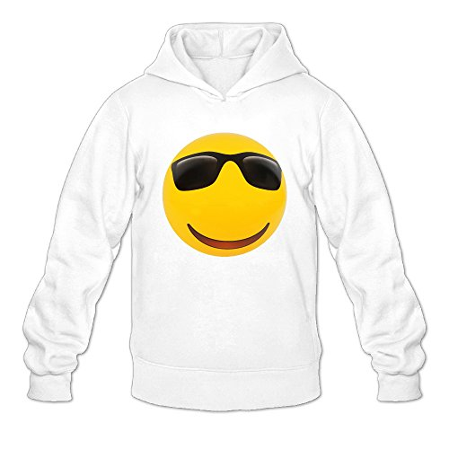 Emoji Balls Sunglasses Men's Hooded Sweatshirt Mens Pullover Hoodie Unisex's - Emoji Snapchat With Sunglasses