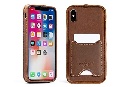 (Deluxe Traveler Protective iPhone Xs Max Case with Pocket - Whiskey)
