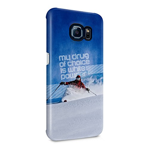 Edge Telemark Skis (Skiing Slide Downhill Telemark Style My Drug Of Choice Motivation Quote Plastic Phone Snap On Back Case Cover Shell For Samsung Galaxy S6 Edge Plus+)