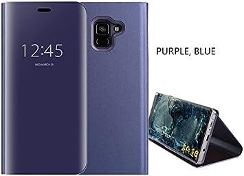 COVO® Funda para Samsung Galaxy A6 Plus 2018 Espejo Flip ...