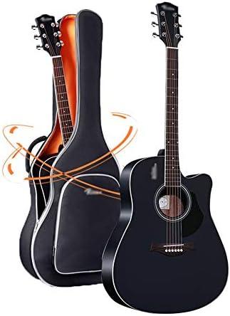 YJFENG アコースティックギター、40、41インチ シュプレー 完全に閉じたノブ 初心者、子供に最適 (Color : Black, Size : 40Inch)