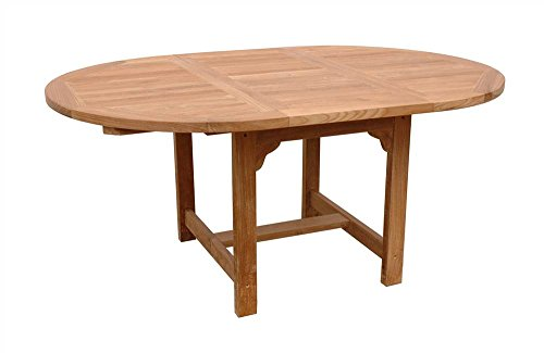 Bahama 67 in. Oval Extension Table - Unfinished ()
