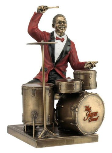 - Drum Player Statue Sculpture Figurine - Jazz Band Collection