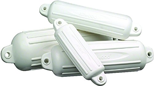 "Attwood 9354D1 Softside Oval Boat Fender 4""x16"" White"