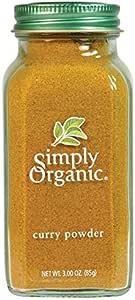 Simply Organic Curry Powder Large Glass, 85g