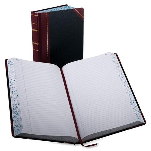 Boorum & Pease Account Book,Record-Ruled,500 Pages,14-1/8''x8-5/8'',Black/Red (9-500-R) by Boorum & Pease