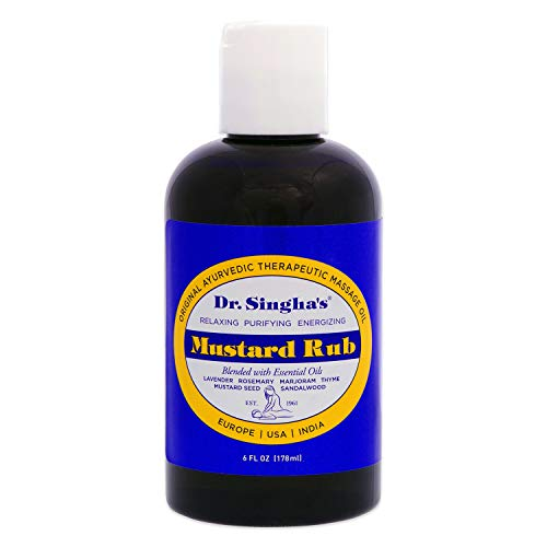 (Dr. Singha's Mustard Rub, Therapeutic Massage Oil, 6 Ounce)