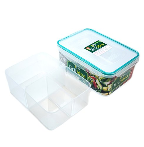 Bento Box Lunch Container with Dividers - Removable compartments, Airtight, Leak-Proof, Fridge, Microwave and Dishwasher Safe (78 - Fridge Box Bento