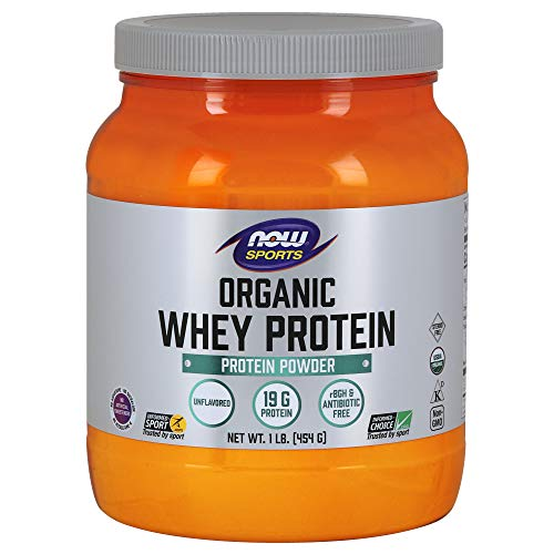 - NOW Sports Organic Whey Protein Natural Unflavored,1-Pound