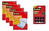 Scotch Thermal Laminating Pouches WBTZM, 8.9 x 11.4 -Inches, 3 mil Thick, 400-Pack with Fasteners Dots