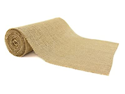 """CleverDelights 12"""" Natural Burlap Roll - 10 Yards - Eco-Friendly Jute Burlap Fabric - 12 Inch from CleverDelights"""