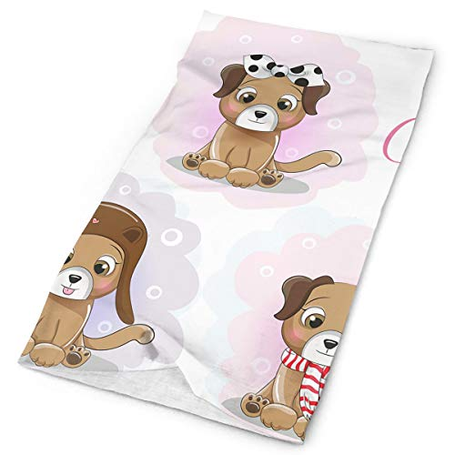 Ciuaole Be Cute Dog Sports Seamless Tube Headwear Bandana Multifuntion Magic Scarf 25 x 50 cm