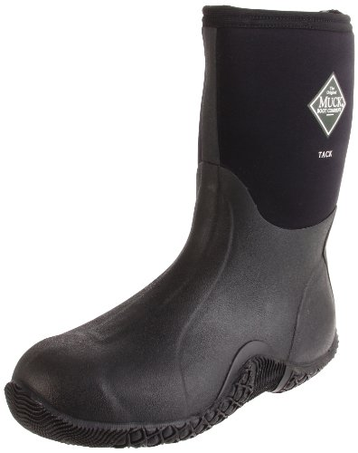 The Original MuckBoots Unisex Tack Mid Boot,Black,Men's 10 M/Women's 11 M (Tack Muck)