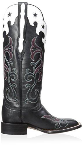 Women's Western Scallop Star Top Boot Black Lucchese F0RqdnxR