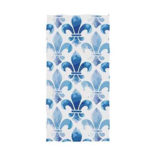 Fleur De Lis Spa - Fleur De Lis Blue Sea Terry Men's Spa Wrap Large Bath Towel for Shower Bath - 64