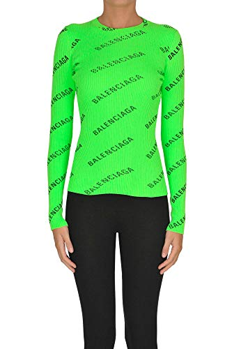 Balenciaga Luxury Fashion Womens MCGLMGP0000A7014E Green Sweater | Season Outlet