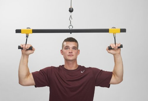 ''Freestyle'' Lat Pull Down Bar by PULL FORCE cable machine bar