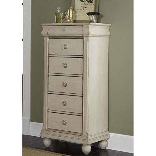 Liberty Furniture Rustic Traditions II Bedroom Lingerie Chest, Rustic White Finish Cherry Heirloom Vanity