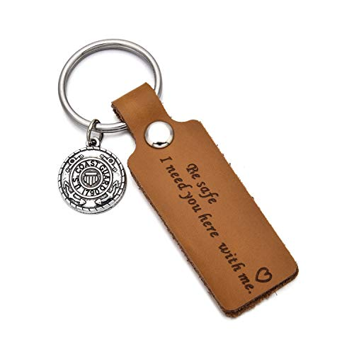 Drive Safe Leather Keychain Be Safe I Need You Here with Me Mom Dad Boyfriend Husband Keychain Gifts