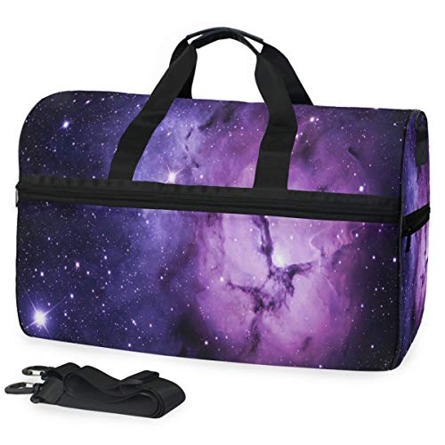 Tissue Kentucky Wildcats - Outer Space Purple Sports Gym Bag with Shoes Compartment Travel Duffel Bag for Men Women
