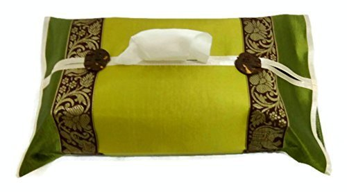 100% Thai Silk Tissue Box Cover Holder Luxury Gift and Souvenir.