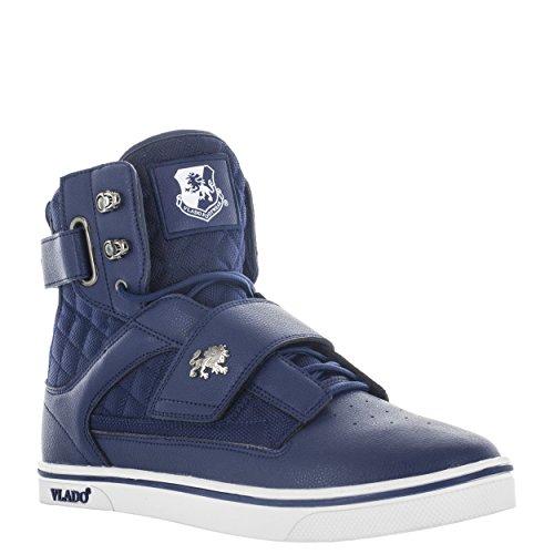 Vlado Footwear Mens Atlas 2 Microfiber & Cordura High Top Burgandy/White Sneakers Navy wEHBrEc