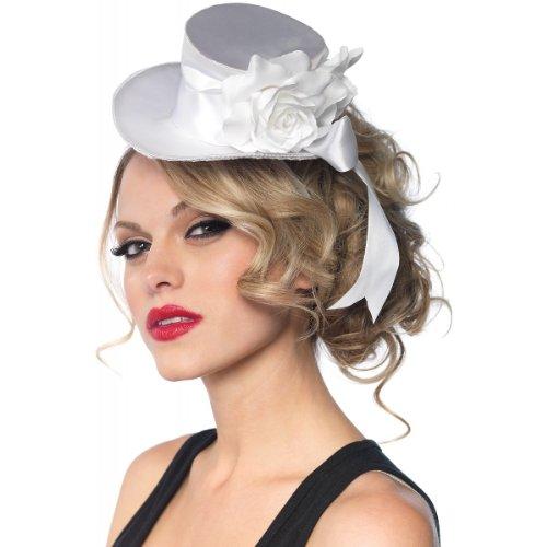 Satin Mini Top Hat Costume Accessory (White Satin Top Hat)