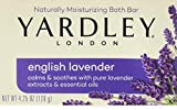 Yardley London English Lavender with Essential Oils Soap Bar, 4.25 oz Bar (Pack of 1)