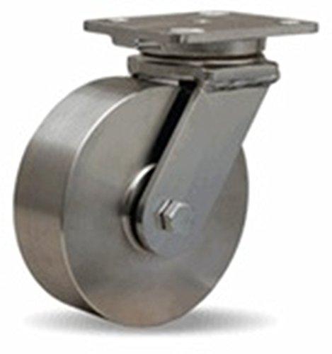 6'' Hamilton Stainless Steel Rigid Caster, 1,200 lb. Capacity