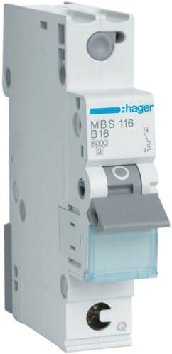 Leitungsschutzschalter 16A MBS116 QuickConnect 1-polig 6kA B-Charakt.