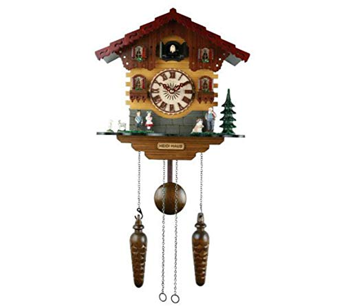 JSHFD Cuckoo Clock Hand-Carved Bright Cuckoo Bird Sounds On The Hour and Chime Has Automatic Shut-Off Excellent Gift