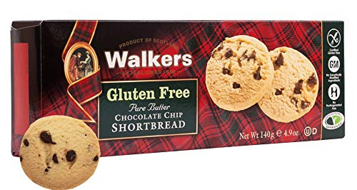 (Walkers Shortbread Gluten-Free Pure Butter Chocolate Chip Shortbread, 4.9 Ounce Box (Pack of 6))