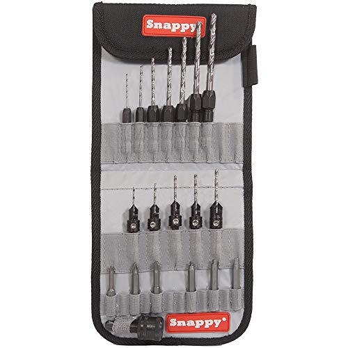 Snappy 25pc Countersink Drill and Driver Bit Set (Quick Snappy Chuck)