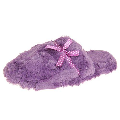 Per Sempre Sognando Le Donne / Le Signore Scivolano Sulle Pantofole In Memory Foam Viola