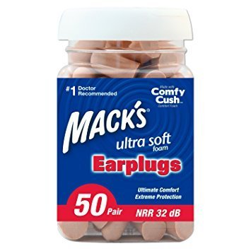 Mack's Ultra Soft Foam Earplugs, 50 Pair - 32dB Highest NRR, Comfortable ear plugs for sleeping, snoring, work, travel and loud events - Pack of 3 by Mack's M