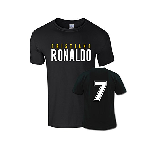 Cristiano Ronaldo T-shirts - Cristiano Ronaldo Front Name T-shirt (black) - Kids