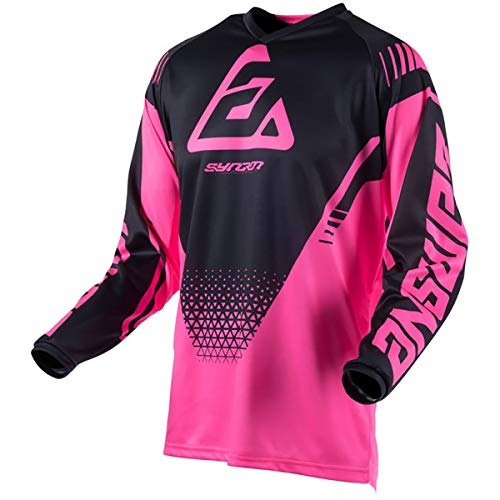(Answer Racing A19 Syncron Drift Women's Off-Road Motorcycle Jersey - Flo Pink/Black/Small)