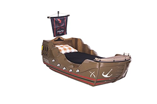 Pirate Bed Brown Finish Adult Size Bed 3FT Single From The UK (Brown)