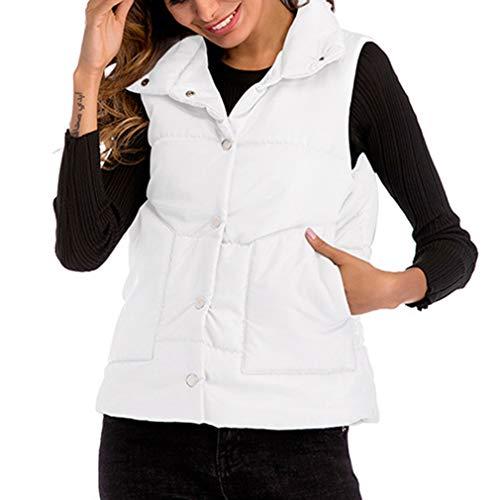 Vest Autumn Slim Down Sleeveless Cheyuan Casual Cotton Waistcoat Vests Short Solid Coat Color White Women Jacket Winter qC4wd5dn1