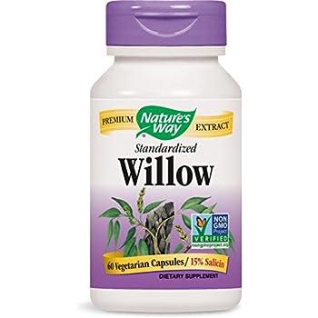 Nature's Way Standardized Willow Bark, 60 Vegetarian Capsules