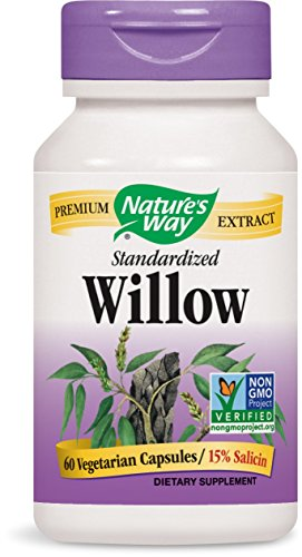 Nature's Way Standardized Willow Bark, 60 Vegetarian Capsules For Sale