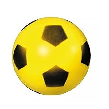 Bola de espuma   Bola blanda   Fútbol Aprox. 20 cm Balón amarillo   Amazon.es  Juguetes y juegos 7765454aef3c