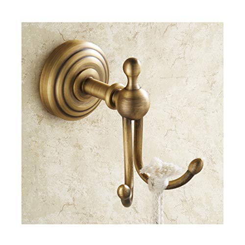 (SHOW-WF Antique Brass Hat and Coat Hooks, Towel Hangers Wall Mounted Double Hook, for Back of Door, Bathroom, Kitchen, Wardrobe,D)