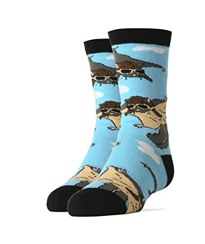 Kids Youth Crew Funny Novelty Socks Flying Squirrels