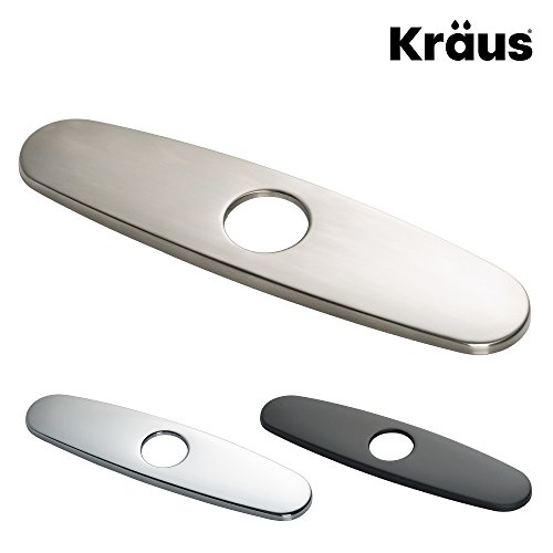 """Kraus Kitchen Faucet 10"""" Deck Plate in Stainless ()"""